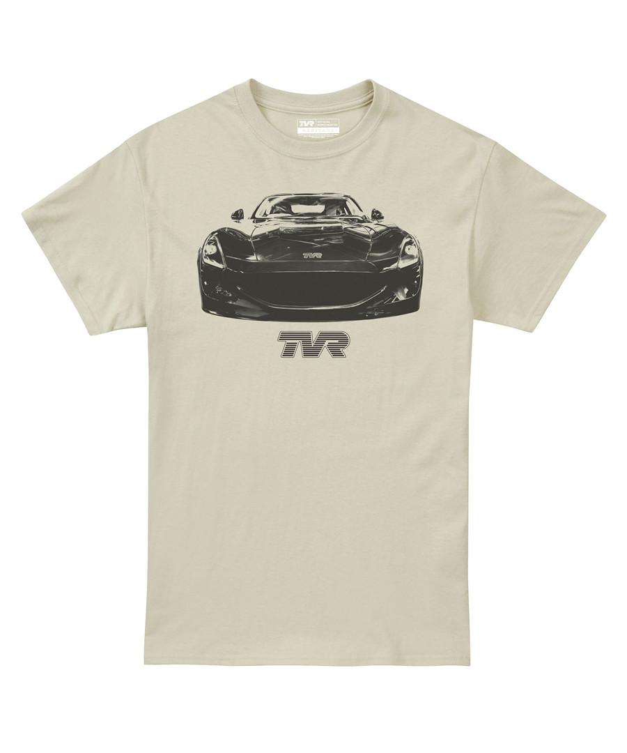 Sand pure cotton car motif T-shirt Sale - petrol heads