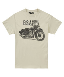 Sand pure cotton BSA motif T-shirt
