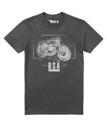 Charcoal pure cotton print T-shirt