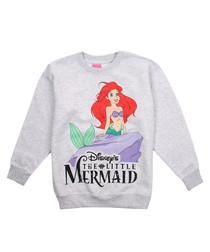 Grey The Little Mermaid printed jumper