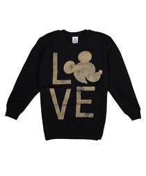 Girls' black Mickey printed jumper