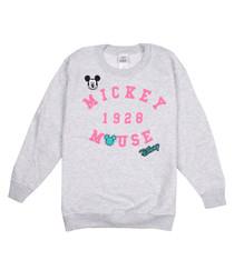 Girls' grey classic printed sweatshirt