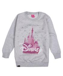 Girls' grey printed Disney sweatshirt