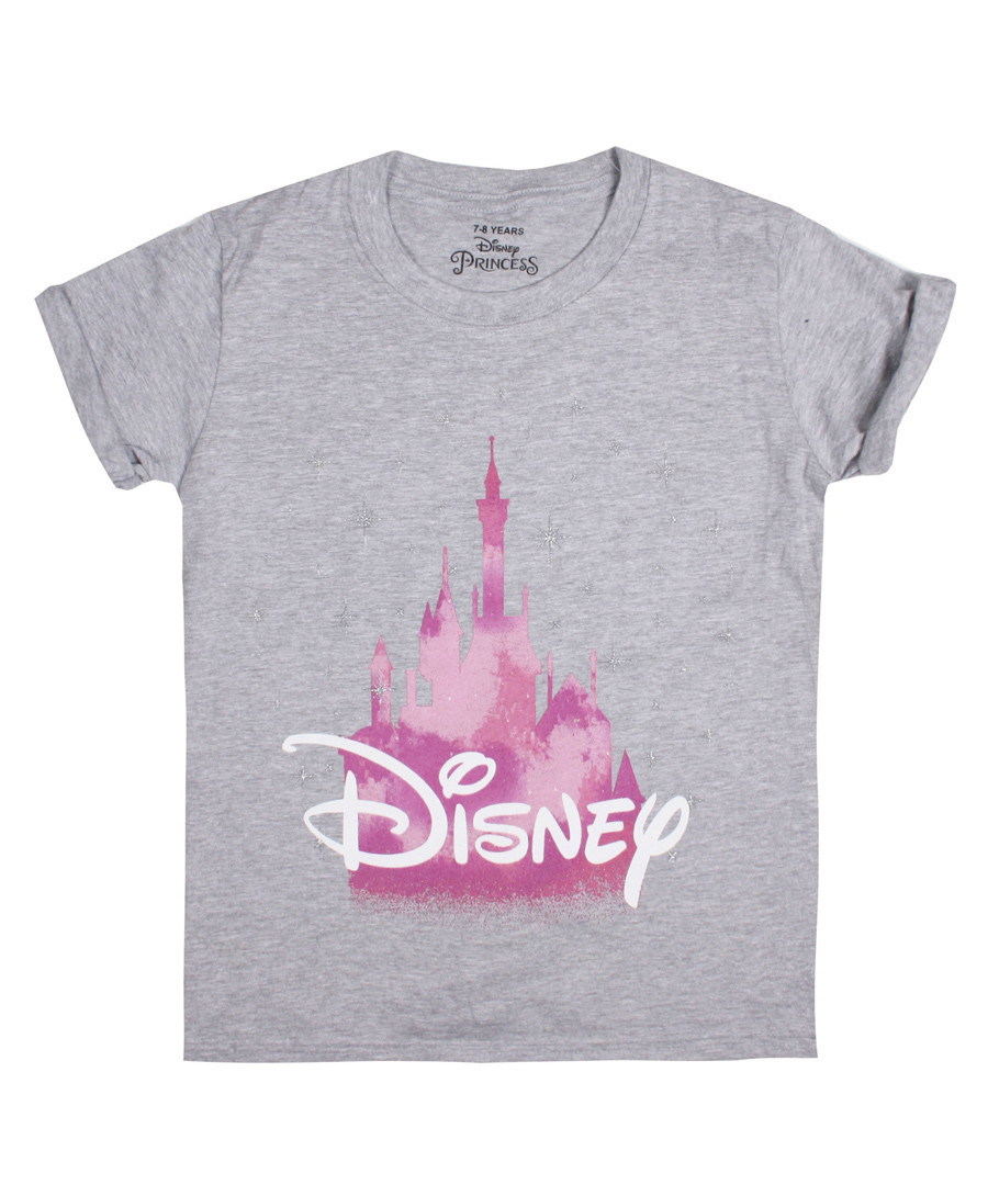 Girls' Disney Castle grey T-shirt Sale - Disney