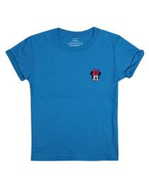 Girls' Minnie sapphire logo T-shirt