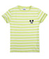 Girls' Minnie lime stripe logo T-shirt Sale - disney Sale