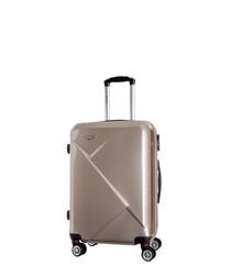 Beige spinner suitcase 50cm