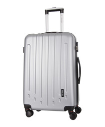 Silver spinner suitcase 70cm