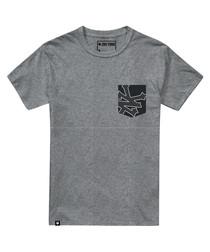 Heather grey cotton pocket T-shirt