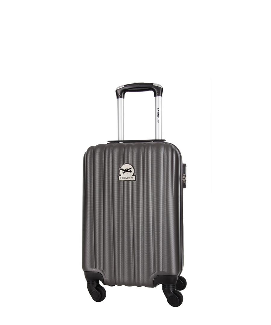 Grey spinner suitcase 46cm Sale - cabine size