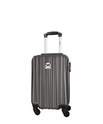 Grey spinner suitcase 46cm