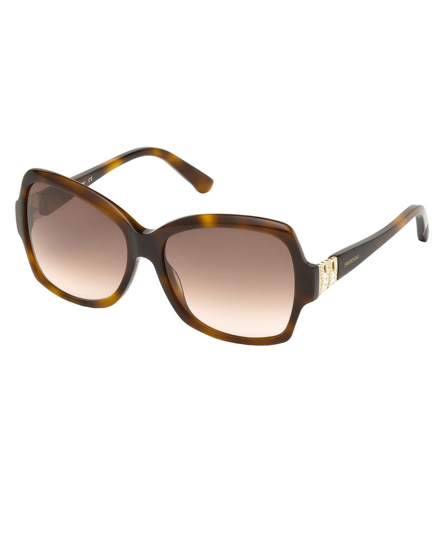 Brown Havana oversized sunglasses  Sale - swarovski
