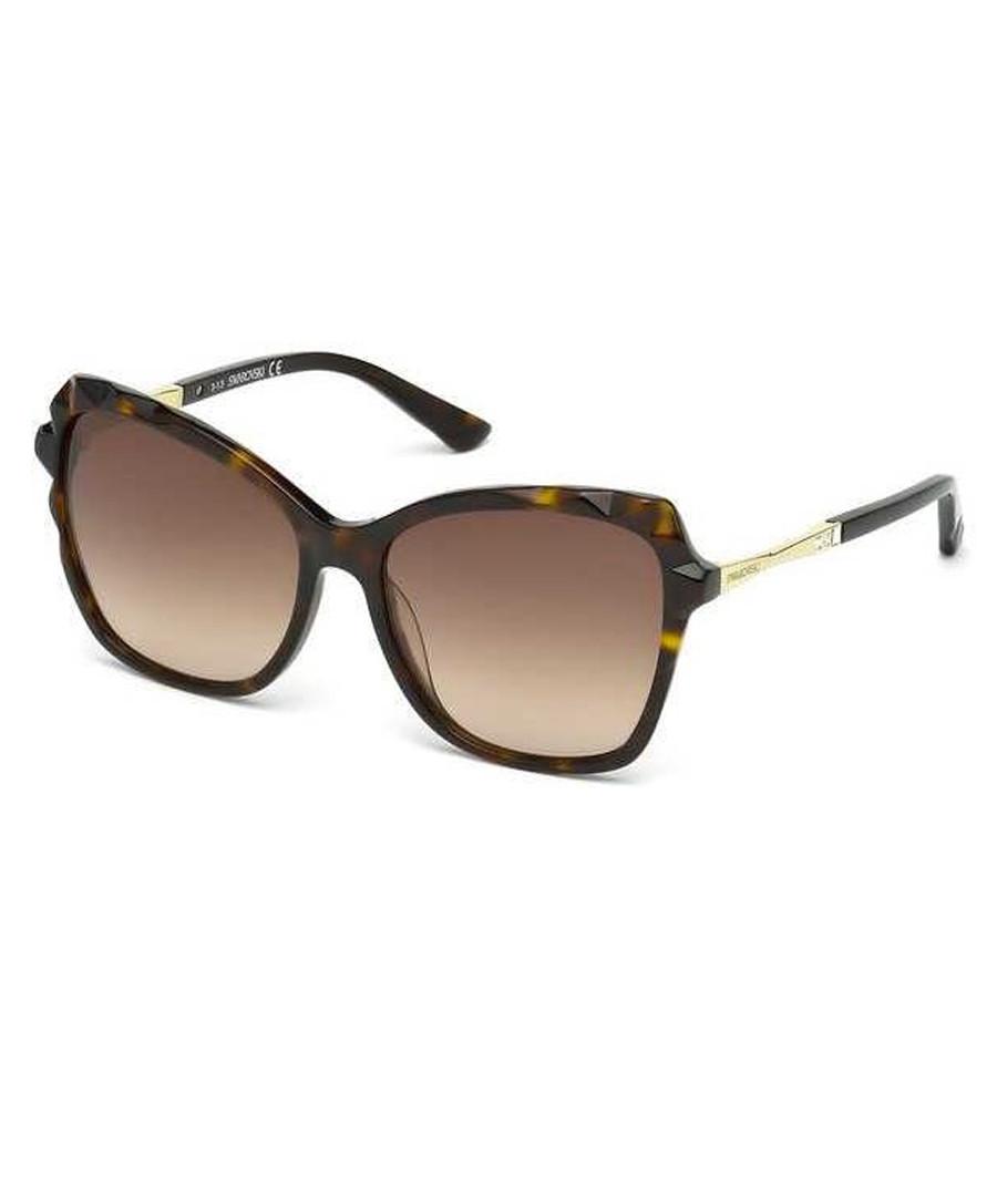 Brown Havana oversized sunglasses  Sale - swarovski