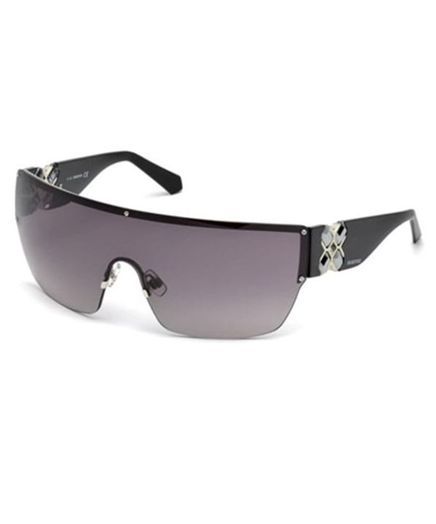 fdd5a8365942c Women s black   grey visor sunglasses Sale - swarovski