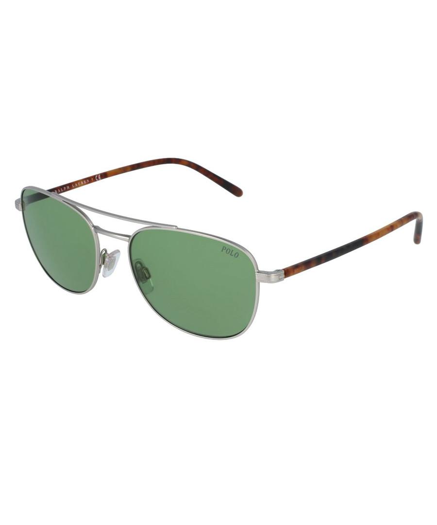 4748f4eca676 Green   silver-tone sunglasses Sale - RALPH LAUREN