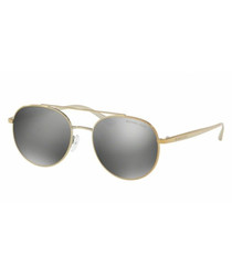 Silver-tone rounded lens sunglasses