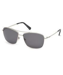 Men's silver & grey sunglasses