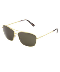 Men's gold-tone & grey sunglasses