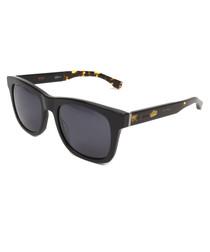 Black & Havana thick frame sunglasses