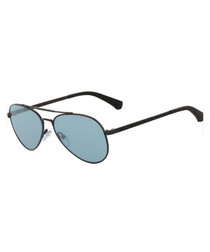 Blue & black aviator sunglasses