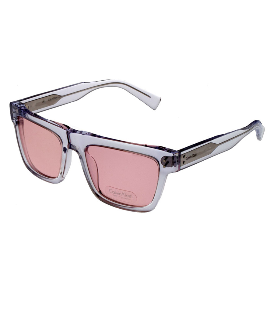 3112070b33 Pink   silver straight frame sunglasses Sale - calvin klein