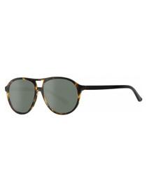 Havana double bar sunglasses