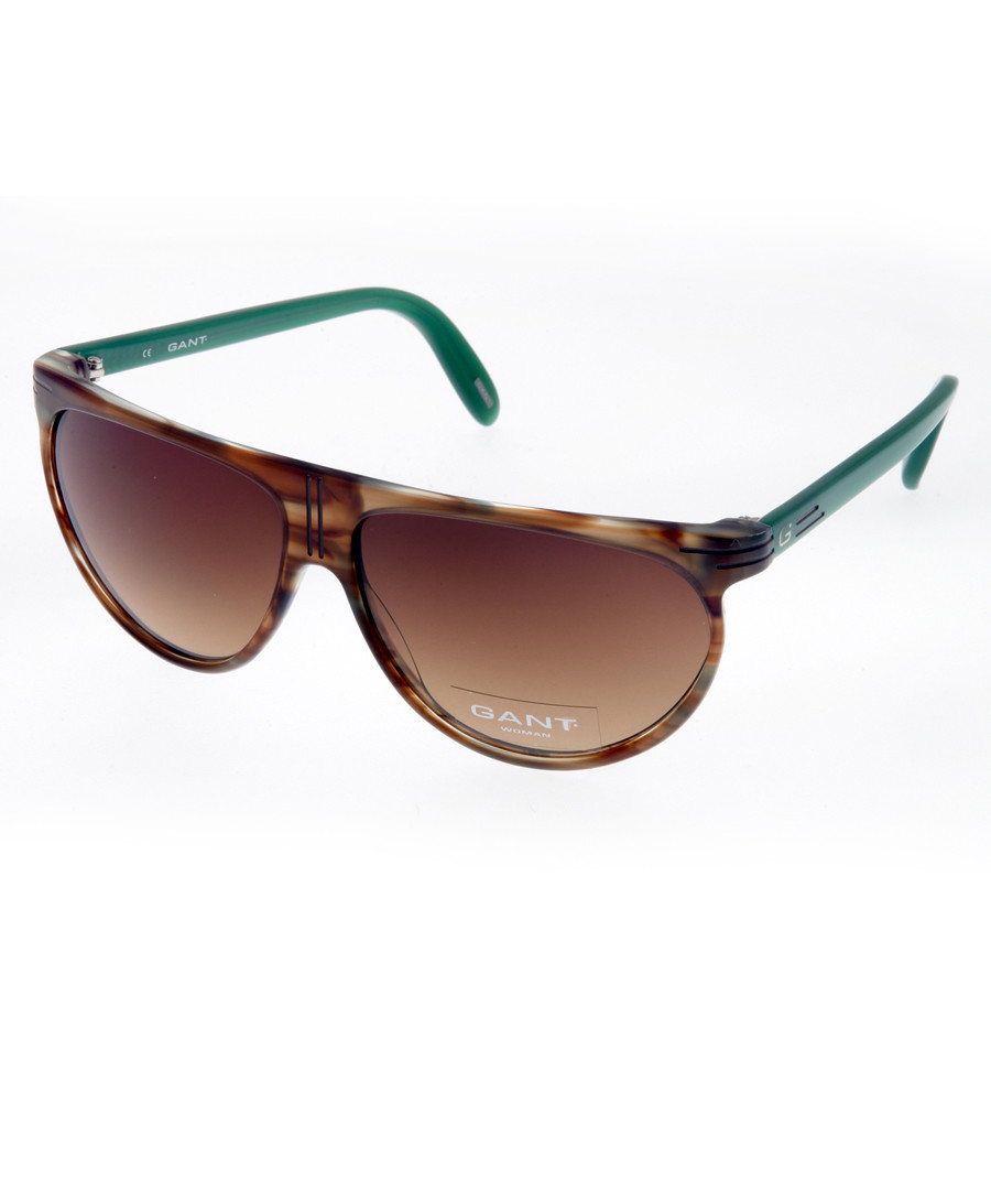 Brown & turquoise wide sunglasses Sale - gant