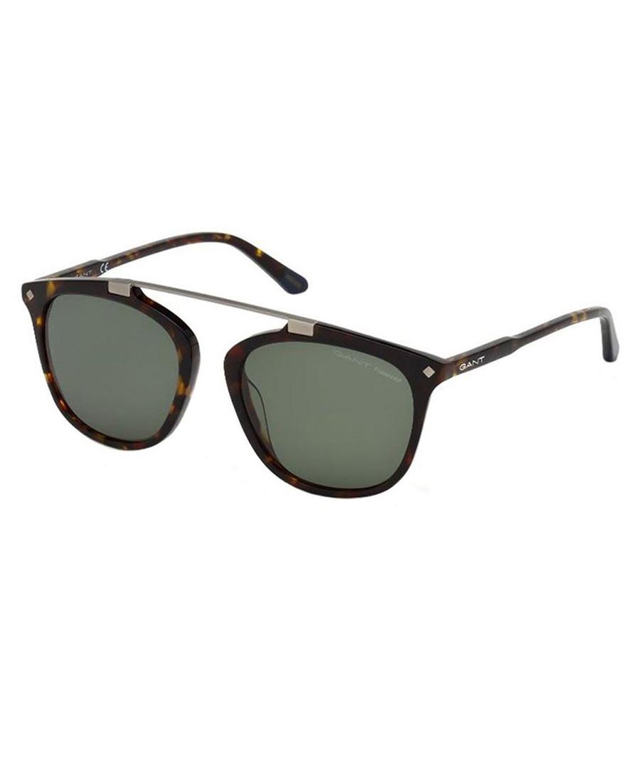 73d84be4ebb0 Havana   green rounded sunglasses Sale - GANT