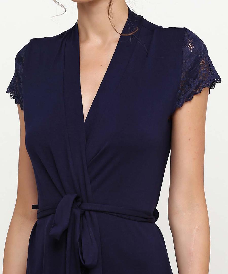 Discount Navy short dressing gown | SECRETSALES