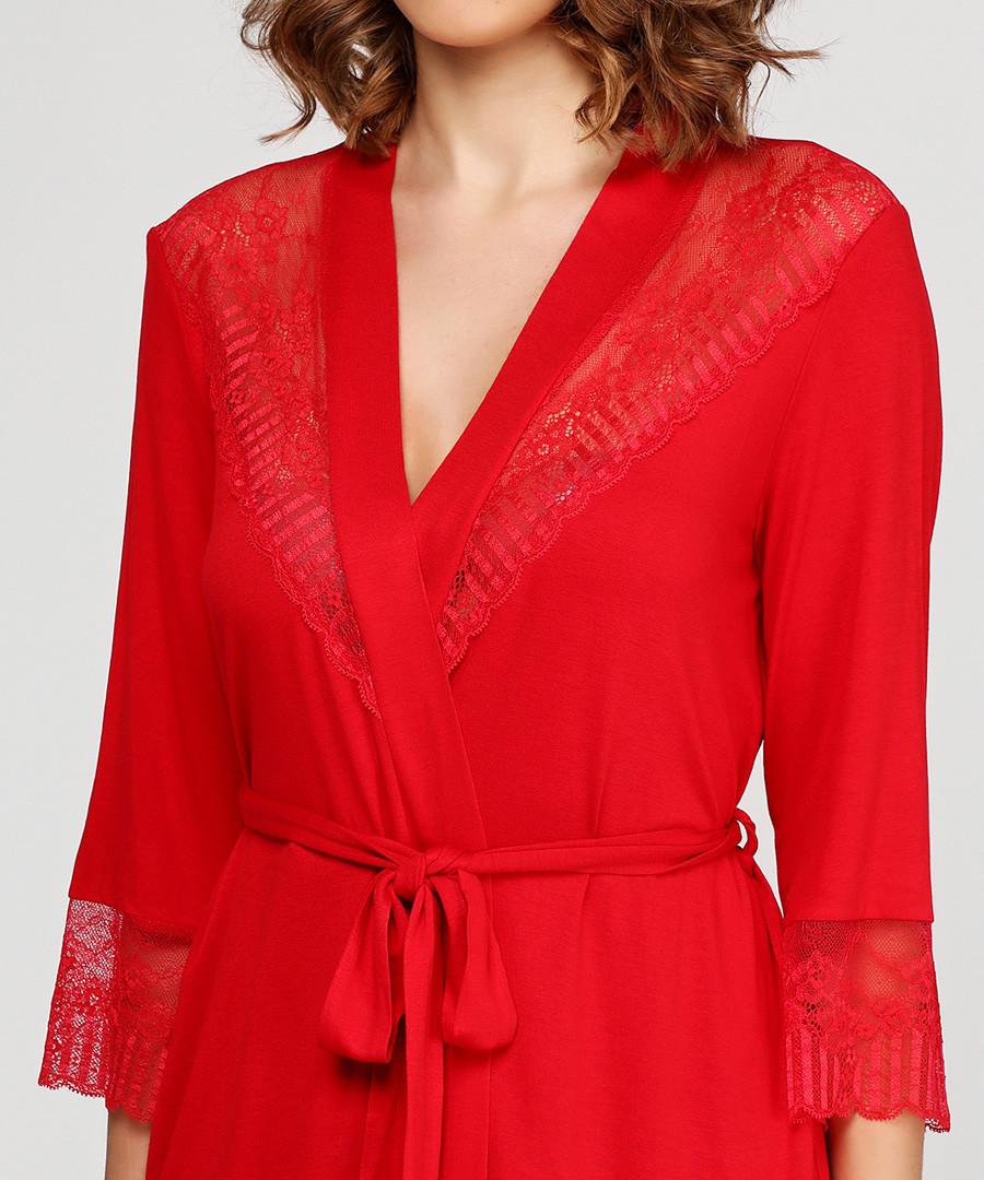 Discount Red short dressing gown | SECRETSALES