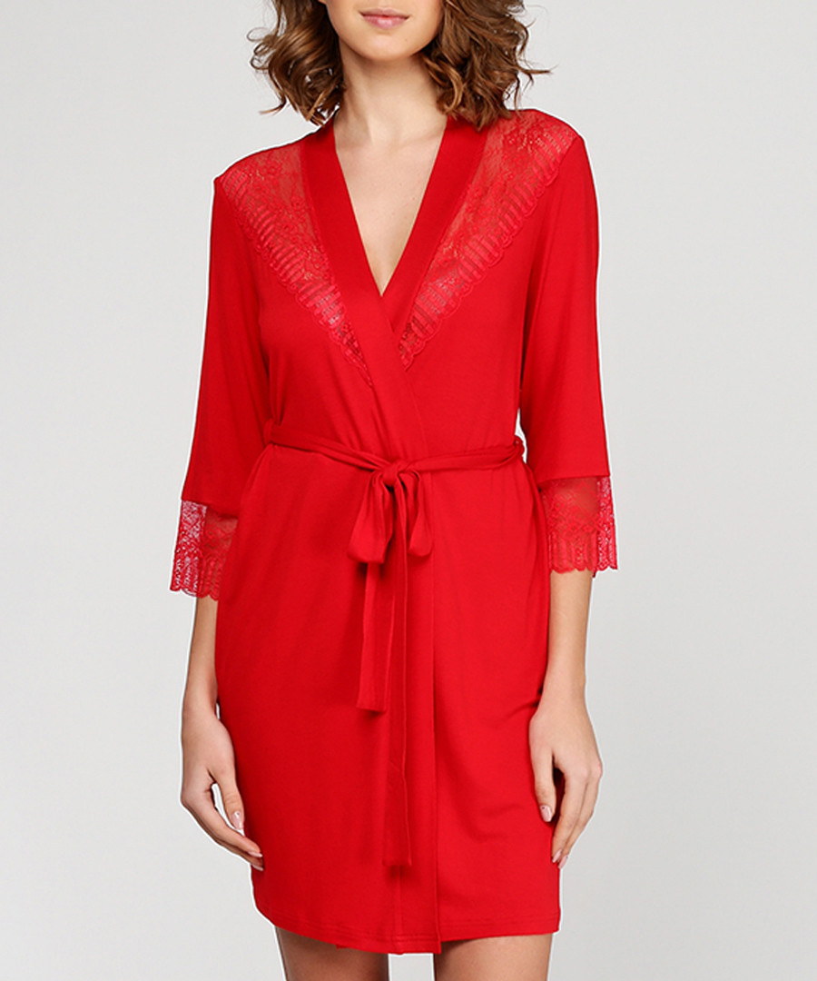 Discount Red short dressing gown | SECRETSALES