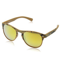 Yellow flash & brown rounded sunglasses