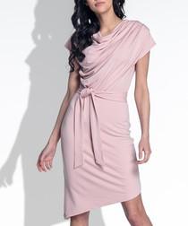 Pink powder cotton blend dress