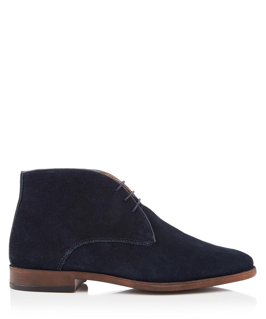 Marlow navy leather desert boots Sale - kurt geiger