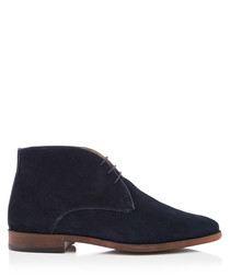 Marlow navy leather desert boots