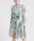 Green frill long sleeve dress Sale - sipaya Sale