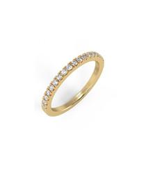 0.25ct diamond & gold half eternity ring