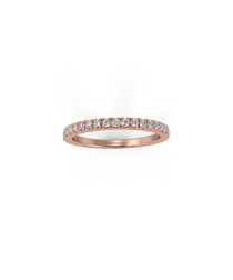 0.25ct diamond & rose gold eternity ring