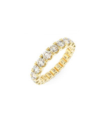1ct diamond & gold full eternity ring