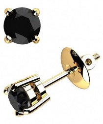 1.5ct black diamond & gold earrings