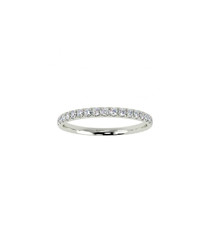 0.4ct diamond & white gold eternity ring