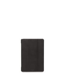 Black leather folio iPad pro case