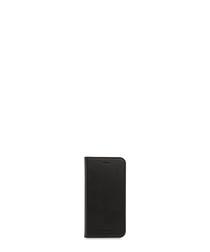 Black leather folio iPhone 7/6s case