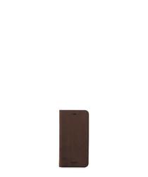 Brown leather folio iPhone 7+/6s+ case