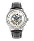 Belfour steel & black leather watch Sale - reign Sale