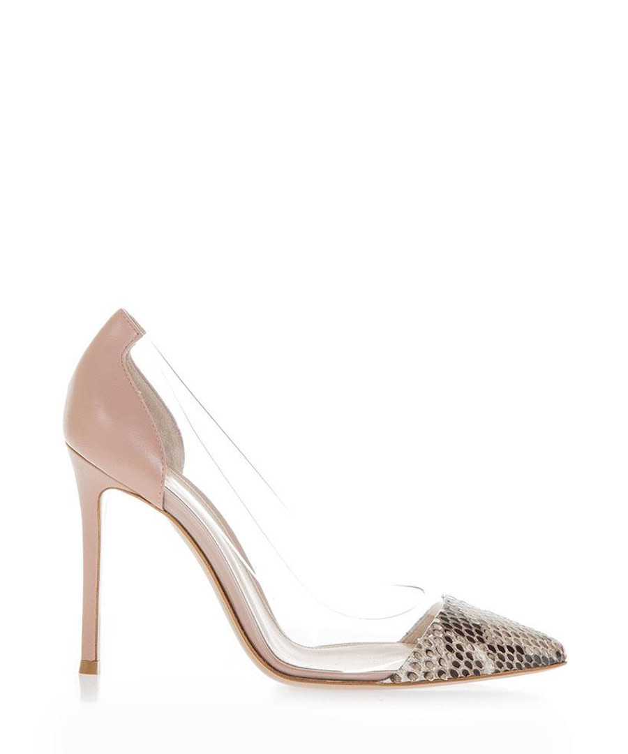 Powder & transparent stiletto heels Sale - gianvito rossi