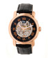 Kahn rose gold-tone & leather watch Sale - reign Sale
