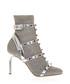 Studded silver-tone leather sandals Sale - valentino garavani Sale
