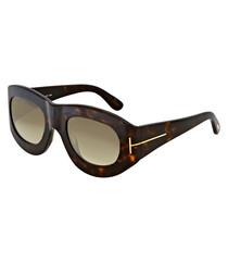 Dark Havana thick-frame sunglasses