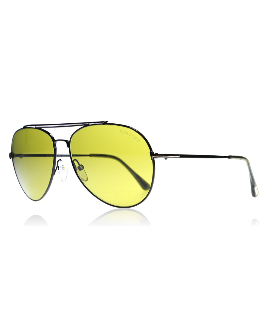 Green & black rounded sunglasses Sale - tom ford